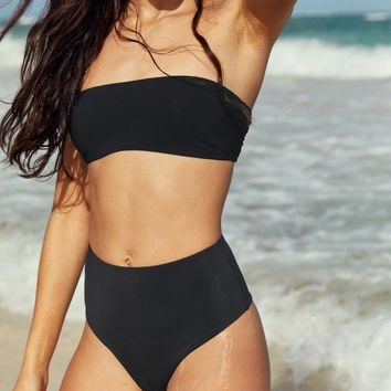 Po Swim Gia Cheekier Bikini Bottom, True Black
