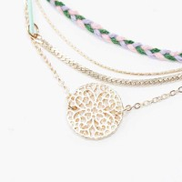 Filigree and Plait Bracelet Multipack - Urban Outfitters