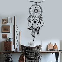 Vinyl Wall Decal Dream Catcher Bedroom Art Decor Dreamcatcher Stickers Unique Gift (ig3583)