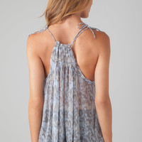CHAN LUU Tank Top in Dusty Blue Mix