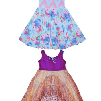 Girls Twirly Dresses | Twirly Dress | Girls Blue Dress