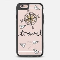 iPhone Case With Interchangeable Back Plates by Casetify| Travel Compass Paper Plane Design by Tangerine Tane (iPhone 6,6s,6 Plus,6s Plus,7)