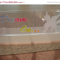 AfterChristmas Sale Unicorn pegasus lightable acrylic art panel decoration  small panel