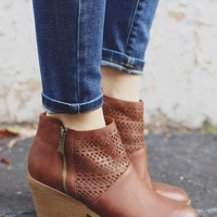Let it Ride Booties - Cognac