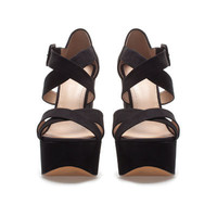 PLATFORM SANDAL - Shoes - TRF - ZARA United States ($79.00)
