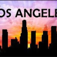 Los Angeles California  Skyline Silhouette Car Truck Tag License Plate