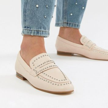 Miss KG Kathy Studded Flat Shoes at asos.com