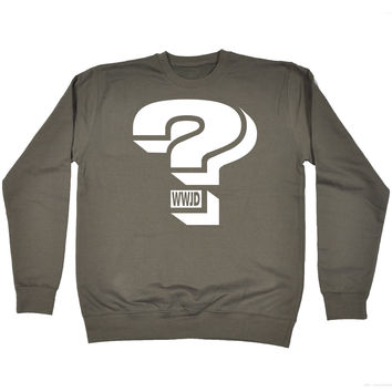 123t USA Question Mark WWJD Funny Sweatshirt