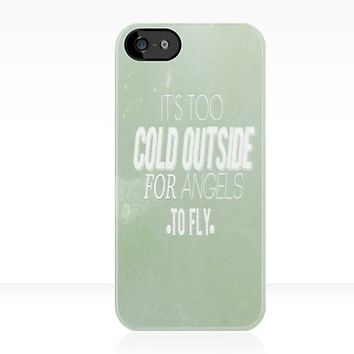 "Ed Sheeran: The A Team- ""It's too cold outside for angels to fly"" - Iphone Case  by sullat04"