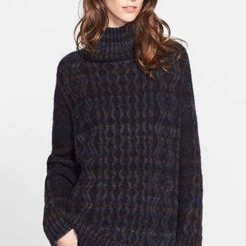 Women's Nordstrom Signature and Caroline Issa Cable Knit Oversize Cashmere Sweater ,