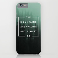 The Mountains are Calling iPhone & iPod Case by Zeke Tucker