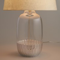 Silver Glass Evelyn Table Lamp Base