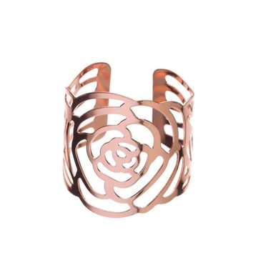 Metal Napkin Rings - Flower (Rose Gold)