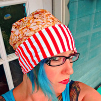 reversible Movie theater Popcorn slouch beanie Hat in sizes baby/ toddler/ kids/ adult