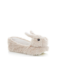 Grey Bird Fluffy Slippers