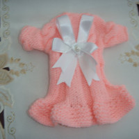 Dog clothes baby girl puppy coat in pale pink with a by CUTIEDOG