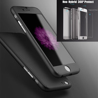 Neo Hybrid Hard Phone Case 360 Cover for fundas iPhone 6 6s plus full body shell sleeve hood + Tempered Glass screen protector