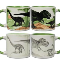 Disappearing Dinosaurs Mug - Hot Water Transforms Dinosaur Into Fossils