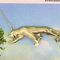 Panther Necklace Pendant | 10k Yellow Gold Necklace | Statement Necklace | Charm Necklace | Conversion Jewelry | Unique Gifts For Her