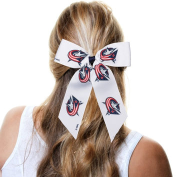 Columbus Blue Jackets Cheer Ponytail Holder