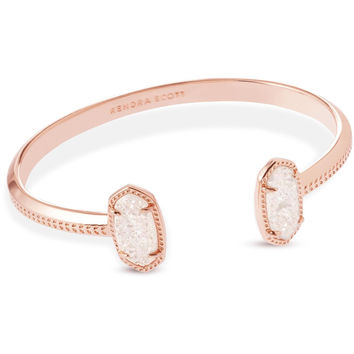 Kendra Scott: Elton Rose Gold Bracelet In Iridescent Drusy
