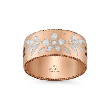 Gucci18K Rose Gold and White Mystic Icon Blooms Ring