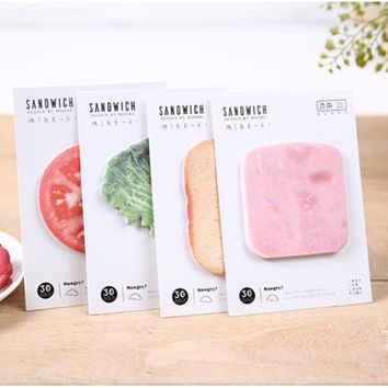 breakfast Vegetable sandwich Memo Notepad Notebook Memo Pad Self-Adhesive Sticky Notes Bookmark Promotional Gift Stationery