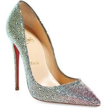 Unique Custom Wedding Shoes, Shoe Strass Service, Christian Louboutin Strass Shoes, Lo