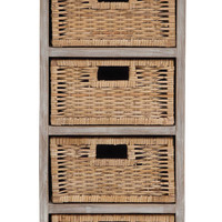 The Rustic Wood 4 Basket Chest