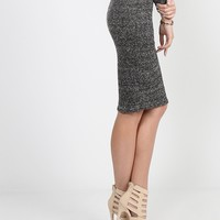 Heathered Pencil Skirt