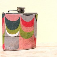 6 oz Stainless Steel Flask  Limited Edition Bold by whimsyandink