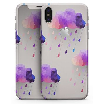 Geometric Rain Clouds - iPhone X Skin-Kit