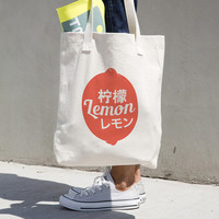 Lemon Graphic Tote Bag