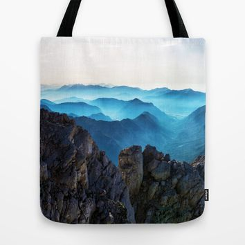 Mountains Breathe Too Tote Bag by Mixed Imagery