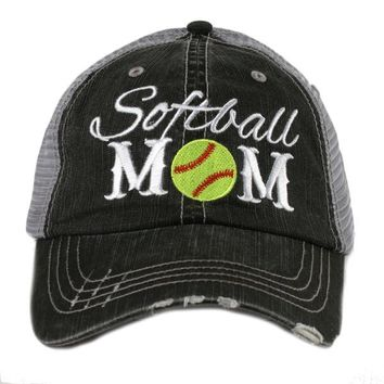 Katydid Softball Mom Trucker Hat