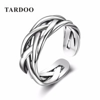 Tardoo Adjustable Size Popular 925 Sterling Silver Weaving Knot Rings for Women & Men Brand Fine Jewelry-in Rings from Jewelry & Accessories on Aliexpress.com | Alibaba Group