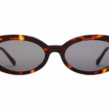Crap Eyewear - Sweet Leaf Dark Tortoise Sunglasses / Grey Lenses