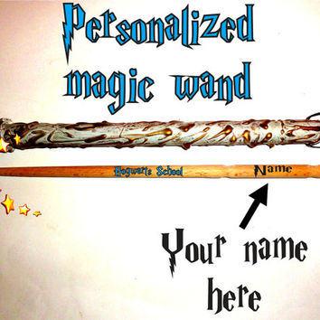 FREE SHIPPING Magic Wand. Personalized Harry Potter Style Magic Wand. Custom Name Magic Wand. Wizard Wands, Fairy Wands, Hermione Magic Wand