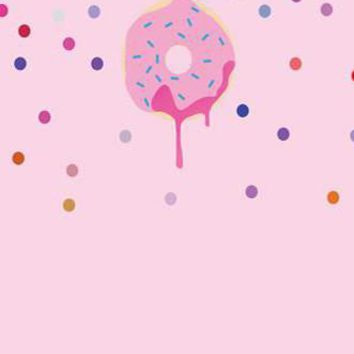 Pink Playful Donut With Sprinkles PINK Printed Backdrop - 4653