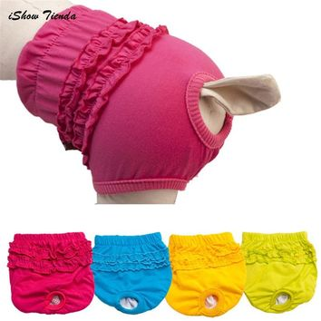 ISHOWTIENDA Hot 1PC Cute Pet Dog Panty Brief Bitch In Season Sanitary Pants For Girl Female XS/S/M/L New