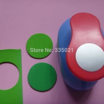 """Free Shipping 1.5""""(3.8cm) Circle EVA foam Paper Punch For Greeting Card Handmade Scrapbook Hole Puncher"""