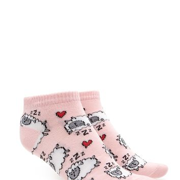 Sheep Graphic Ankle Socks