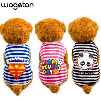 High Quality WAGETON Summer Pet Dog Shirt Clothes Cute Lovely Sweetheart Vest Shirts Printed T Shirt Clothing For Puppy Cats