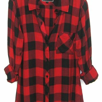 Rails Hunter Plaid Shirt in Black/Red Check