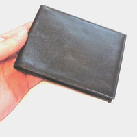 Vintage Men's Black Leather Wallet by FINA