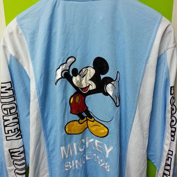 rare Disney Mickey Mouse Unlimited Embroidered Hip Hop Jacket