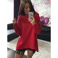 Kaywide Christmas Clothes  Women Winter Hoodies Scarf Collar Long Sleeve Fashion Casual Autumn Sweatshirts Rough Pullovers