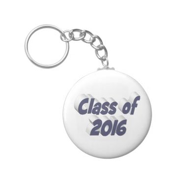 Class of 2016 3D Key Chains, Blue-Gray Keychain