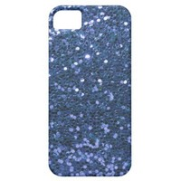 Faux Glitter Look Blue Glam iPhone 5 Cover from Zazzle.com