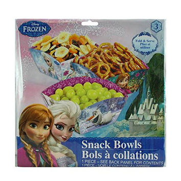 Disney Frozen Food Containers and Snack Boxes (Bowls pack of 3)